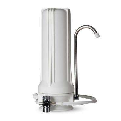 Countertop Multi Filtration Drinking Water Filter Dispenser in White