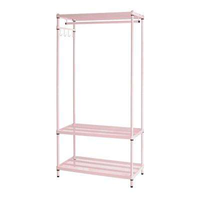 MeshWorks 3-Shelf Metal Blush Pink Freestanding Clothing Unit