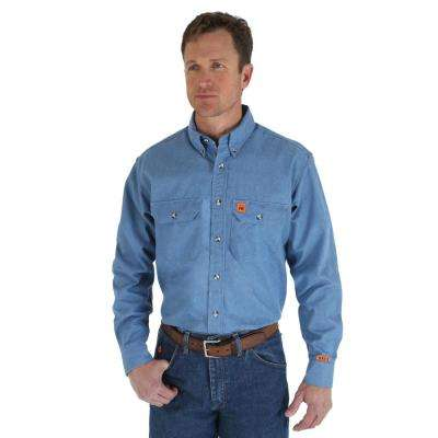 Men's Size Extra-Large Tall Chambray Work Shirt