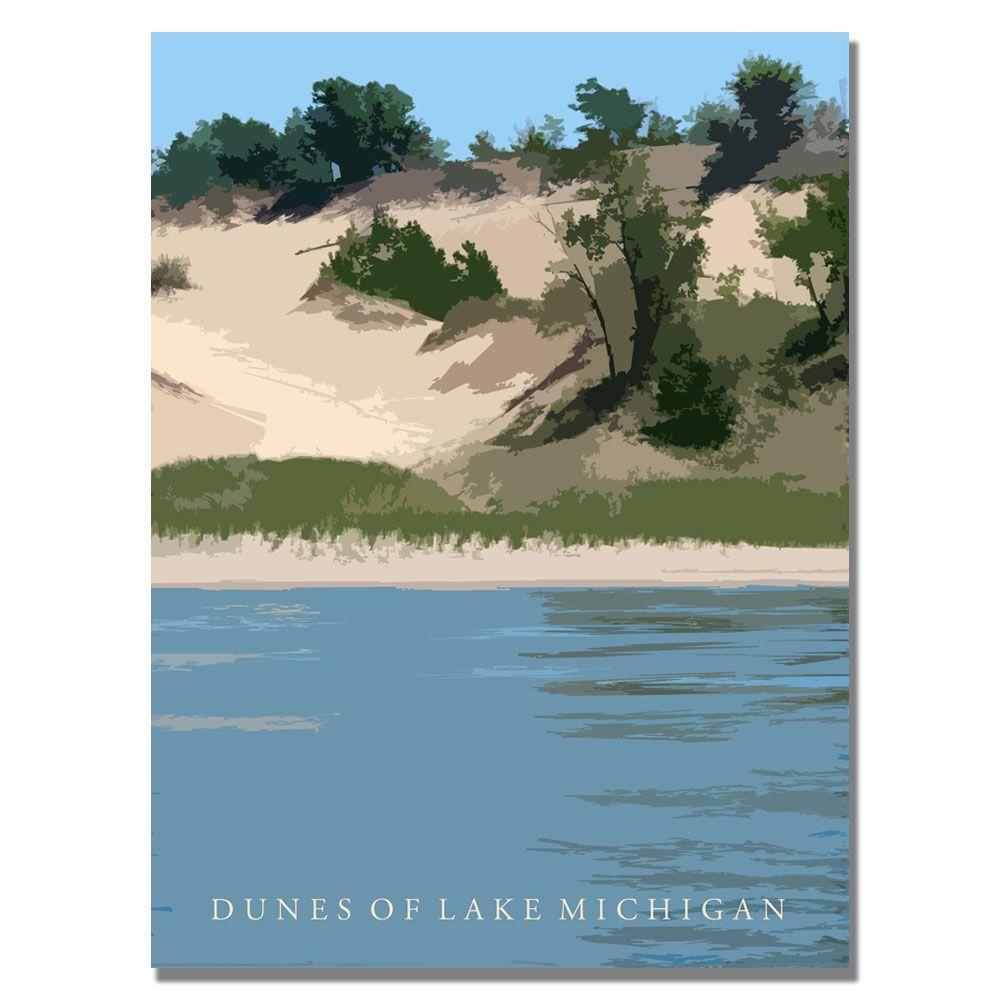35 in. x 47 in. Dunes of Lake Michigan II Canvas
