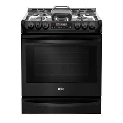 30 in. Slide-in Gas Cooktop in Matte Black Stainless Steel with 5 Burners
