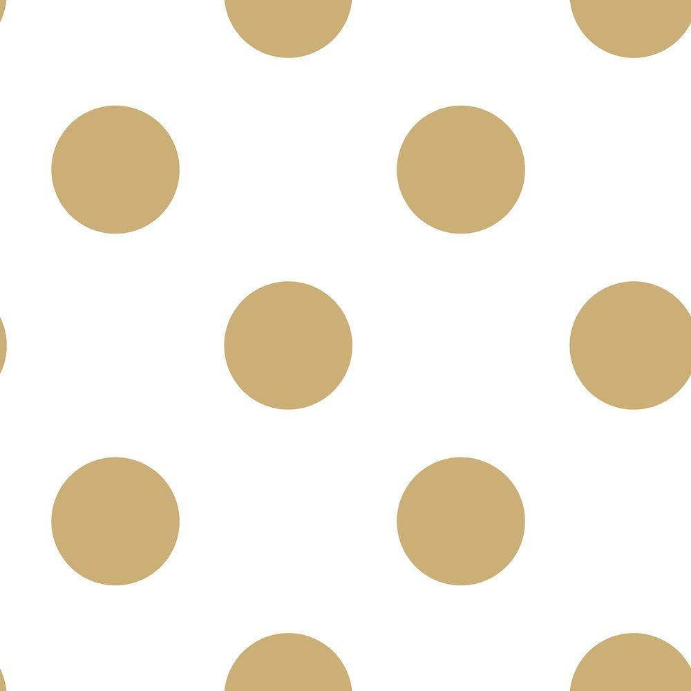 Graham Brown White And Gold Dotty Removable Wallpaper