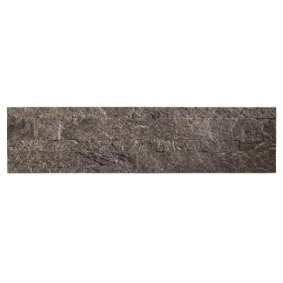 23.6 in. x 5.9 in. Frosted Quartz Peel and Stick Stone Decorative Tile Backsplash