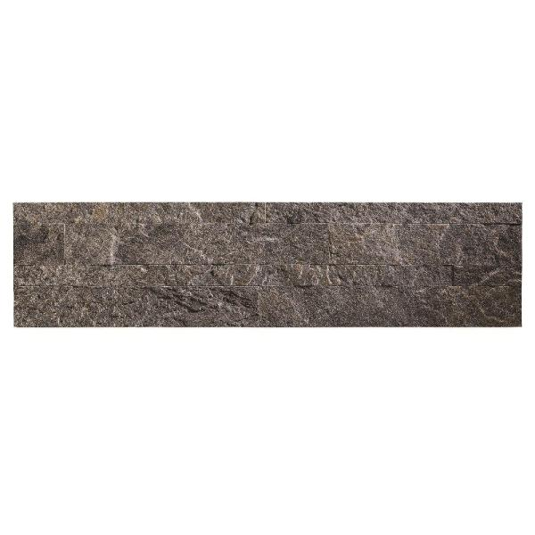 Aspect 23.6 in. x 5.9 in. Peel and Stick Stone Decorative Tile Backsplash in Frosted Quartz