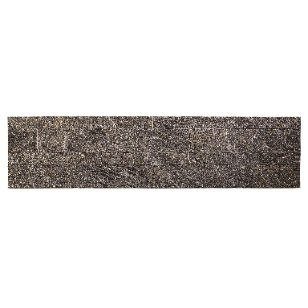 Aspect 24 in. x 6 in. Peel and Stick Stone Backsplash in Frosted ...