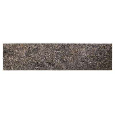 24 in. x 6 in. Peel and Stick Stone Backsplash in Frosted Quartz