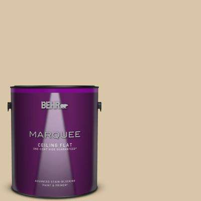 1 gal. #MQ2-23 Almond Butter One-Coat Hide Ceiling Flat Interior Paint and Primer in One