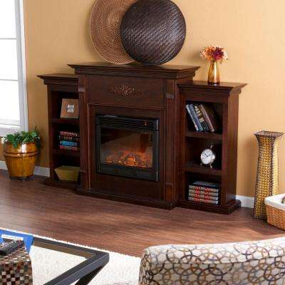 Delightful Jackson 70.25 In. Freestanding Electric Fireplace In Classic Espresso With  Bookcases · Southern Enterprises ...