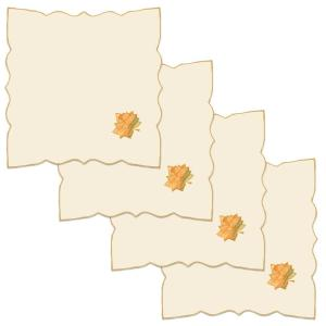 Harvest Sheer 21 in. W x 21 in. H Cream Polyviscose Napkins (Set of 4)