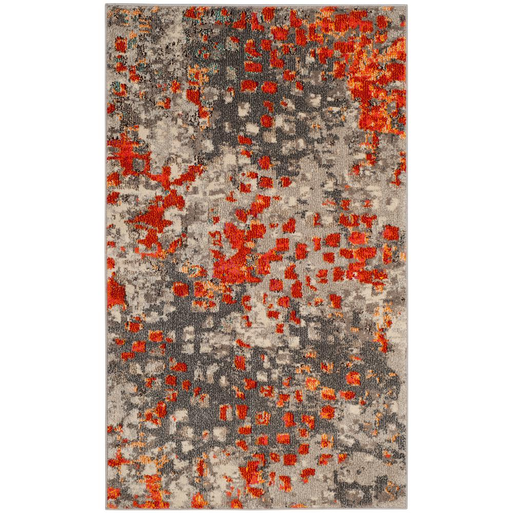 Safavieh Monaco Gray Orange 3 Ft X 5 Area Rug