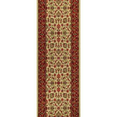 Hamam Collection Ivory 2 ft. x 5 ft. Runner Rug
