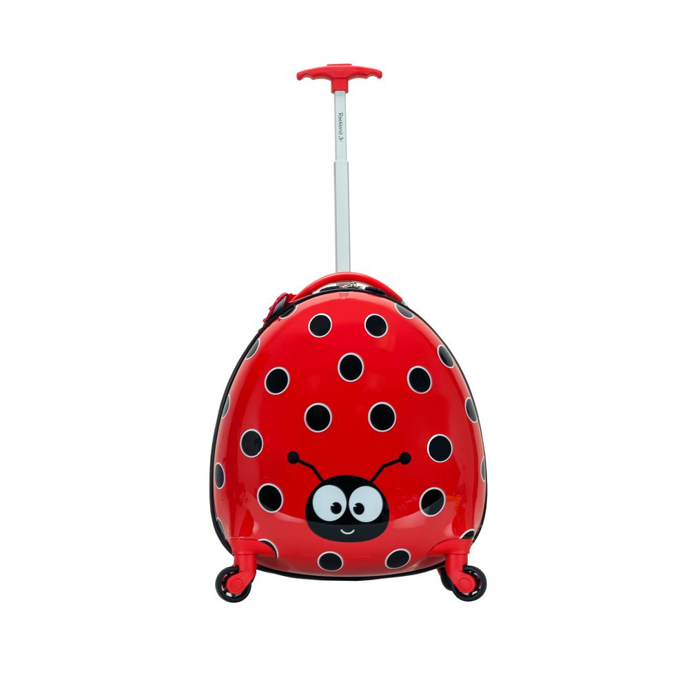 Rockland 17 in. Jr. Kids' My First Polycarbonate Hardside Spinner Luggage, Ladybug