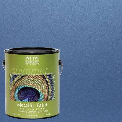 1 gal. Sapphire Water-Based Satin Metallic Interior/Exterior Paint