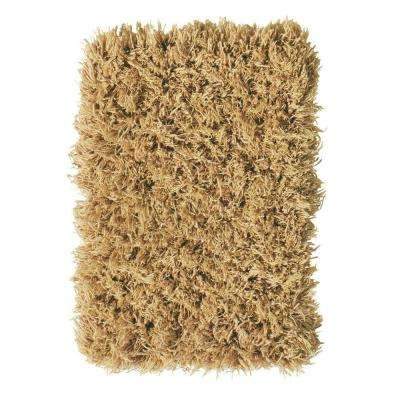 Ultimate Shag Camel 9 ft. x 12 ft. Area Rug