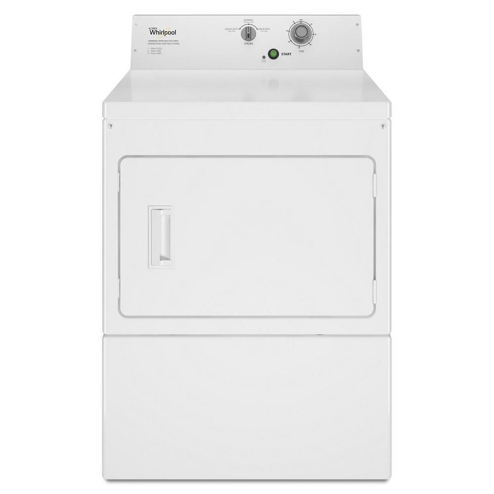 Whirlpool 7.4 cu. ft. 120 Volt White Commercial Gas Super-Capacity Dryer