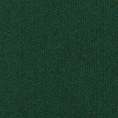 Peel and Stick Sisteron Wide Wale Green 18 in. x 18 in. Residential Carpet Tile (10 Tiles/Case)