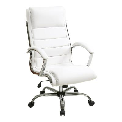 White Faux Leather Executive Chair
