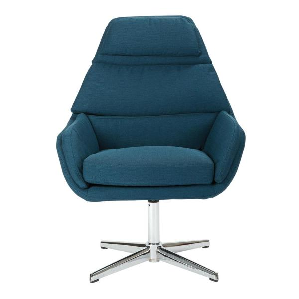 Work Smart Guest Klein Azure Chair with Chrome Base