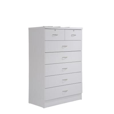 7-Drawer 48 in. H x 31.5 in. W x 18 in. D Chest of Drawer in White
