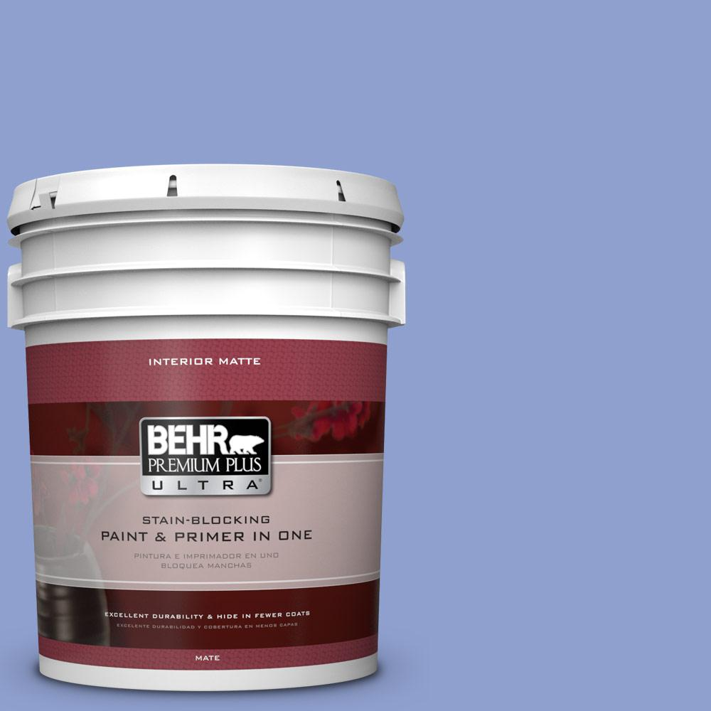 5 gal. #600B-4 Pageant Song Matte Interior Paint and Primer in