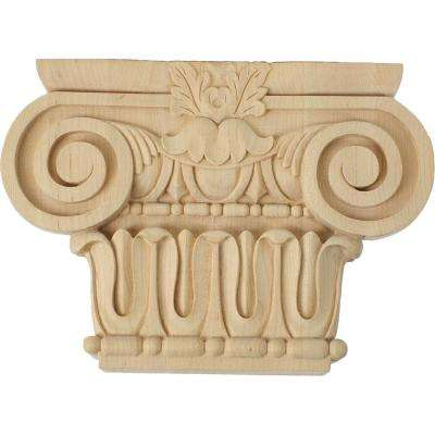 2-5/8 in. x 12-7/8 in. x 9-1/8 in. Unfinished Wood Maple Large Bradford Roman Ionic Corbel