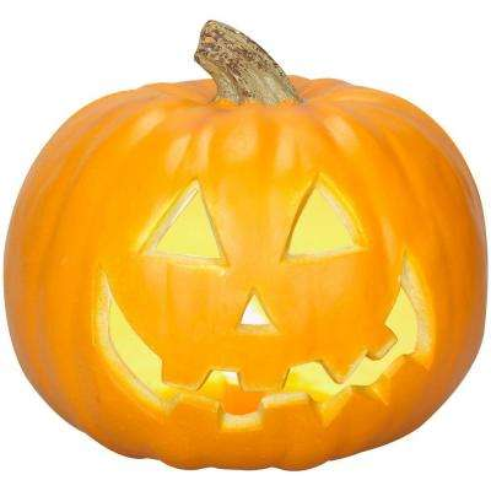 9 in. Spooky Face Blow Mold Jack-O-Lantern
