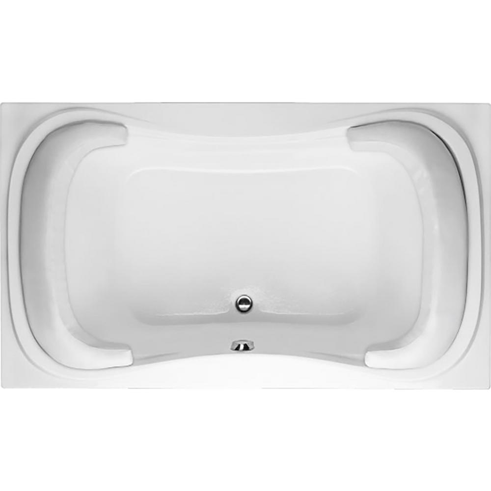 Hydro Systems Lancing 6 ft. Center Drain Bathtub in Biscuit