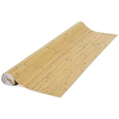 48 in. H x 96 in. L Bamboo Panel Natural Raw Burnt