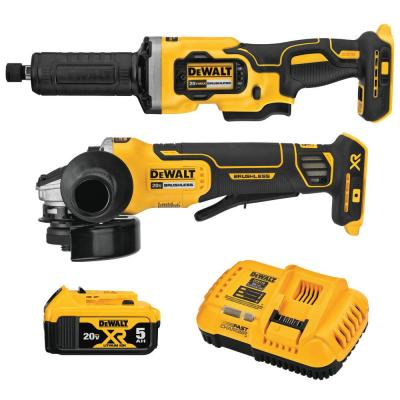 20-Volt MAX XR Lithium-Ion Cordless Grinder Combo Kit (2-Tool) with 4-1/2 in. Angle Grinder & 1-1/2 in. Die Grinder
