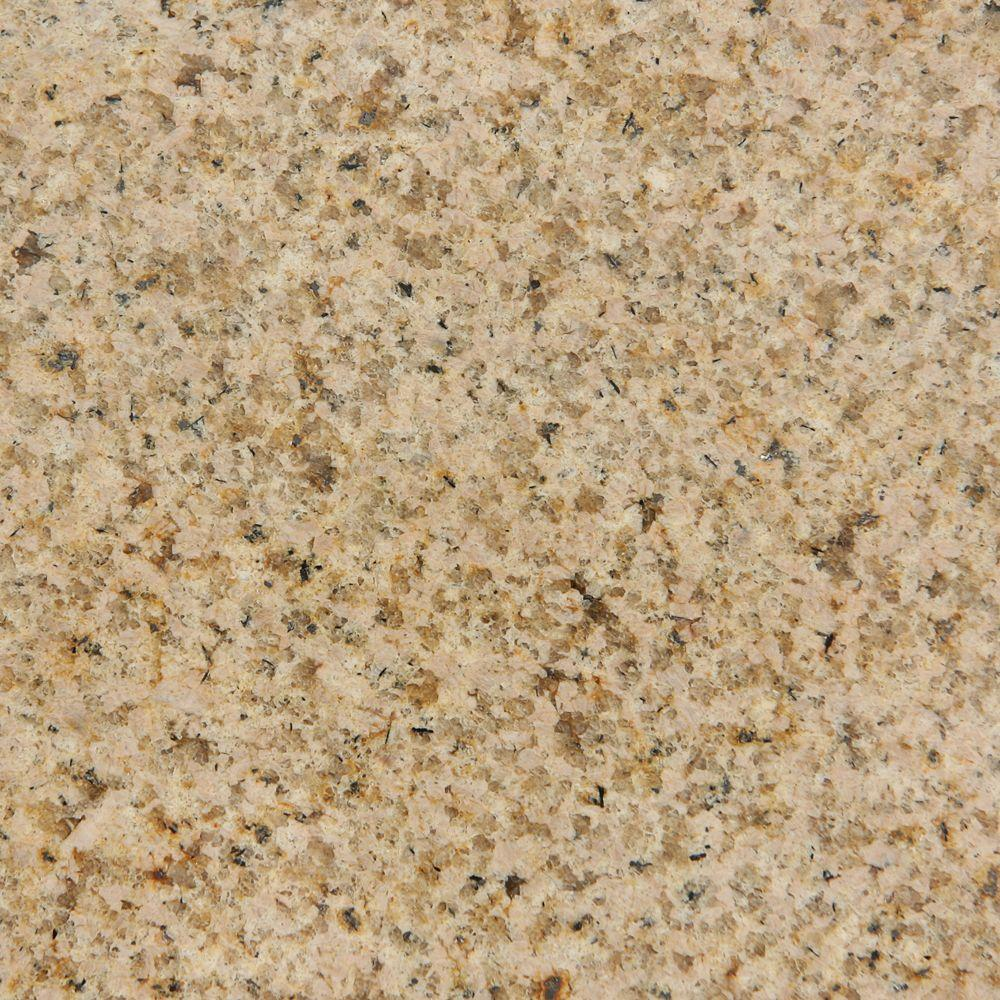 Foremost Cottage 4 in. x 4 in. Granite Top Sample in Mohave Beige