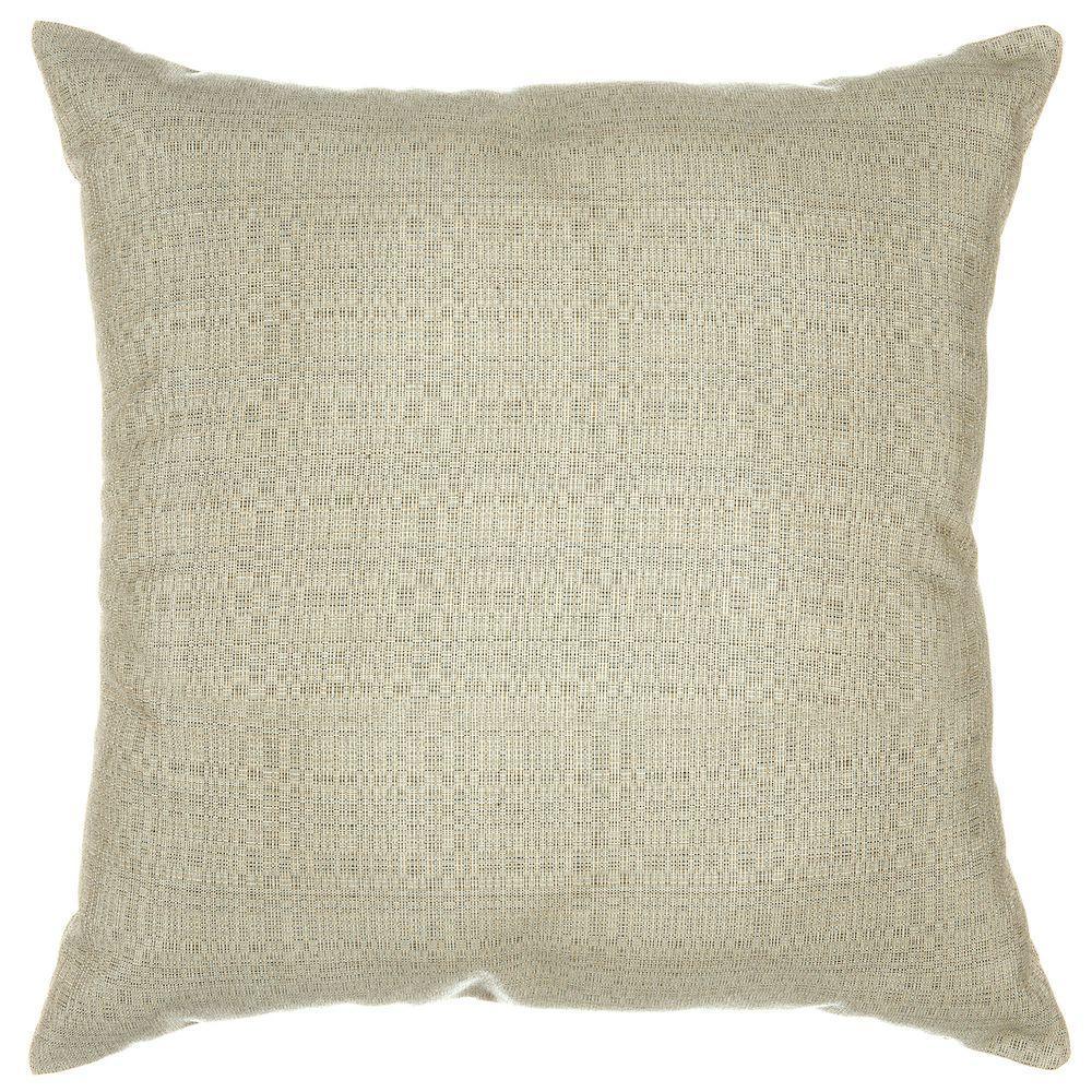 Pawleys Island 24 in. x 24 in. Linen Silver Pillow