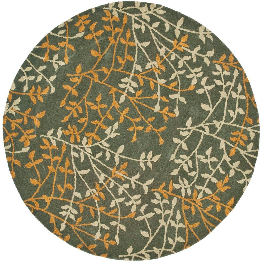 Home Depot Foyer Rugs : Safavieh soho grey multi ft round area rug