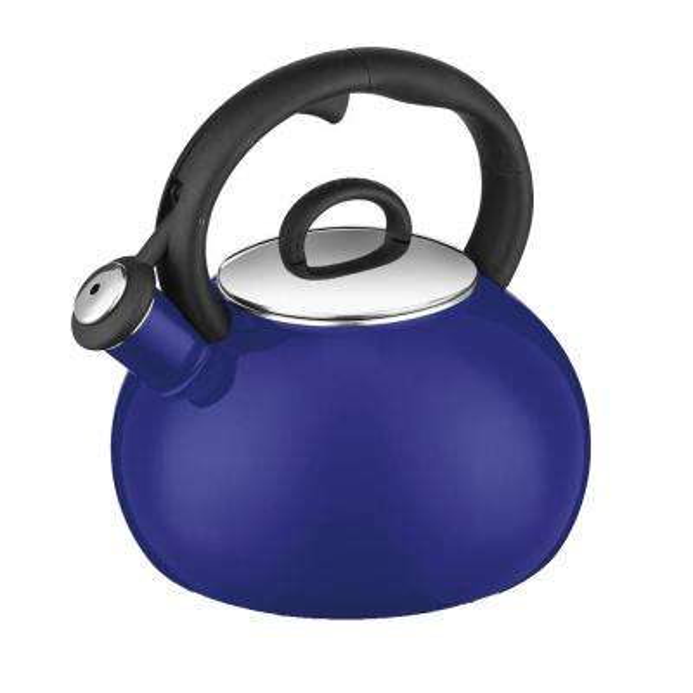 Aura 8-Cup Blue Stainless Steel Tea Kettle