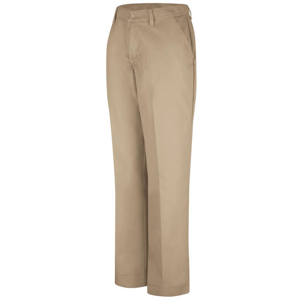 Red Kap Women's Size 12 in. x 30 in. Khaki Industrial Pant