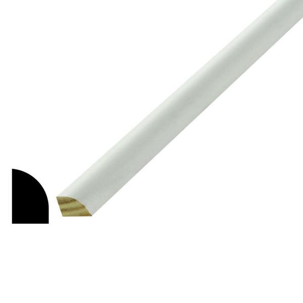 WM 126 1/2 in. x 3/4 in. x 96 in. Poplar Wood Primed Finger-Jointed Shoe Moulding