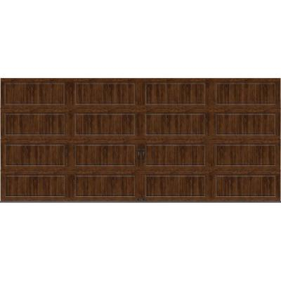 Gallery Collection 16 ft. x 7 ft. 6.5 R-Value Insulated Solid Ultra-Grain Walnut Garage Door