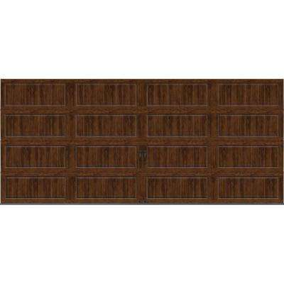 Gallery Collection 16 ft. x 7 ft. 18.4 R-Value Intellicore Insulated Solid Ultra-Grain Walnut Garage Door