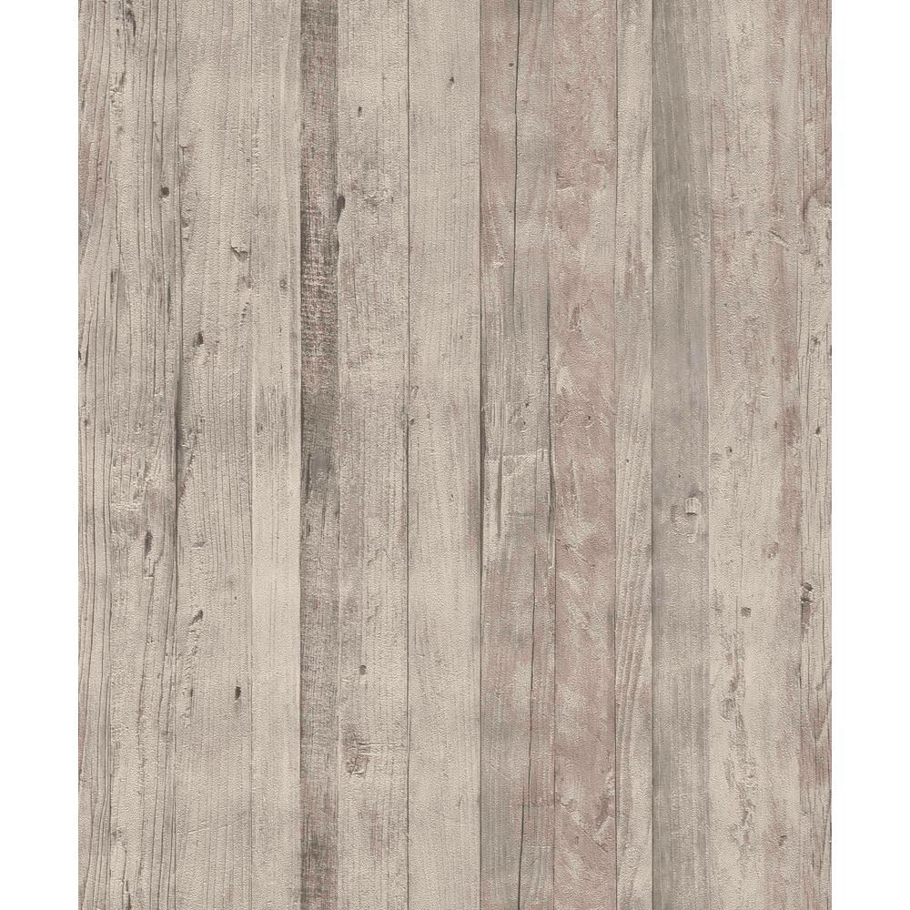 Faux Driftwood Grey Rustica Wallaper