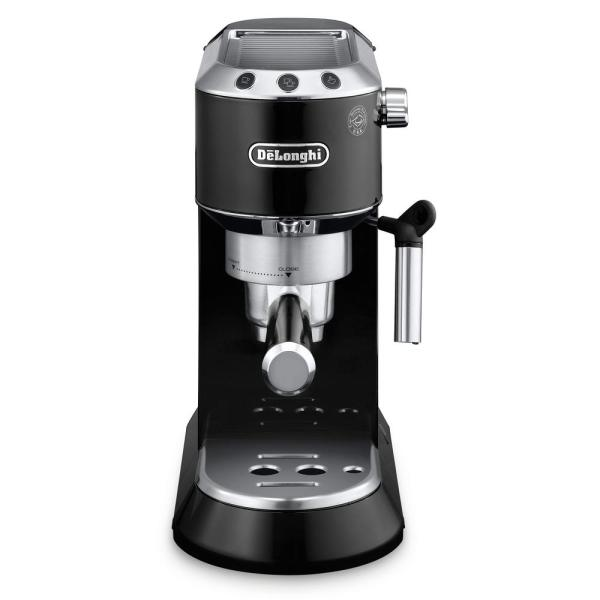 Dedica EC860 15-Bar Black Stainless Steel Slim Espresso Machine and Cappuccino Maker