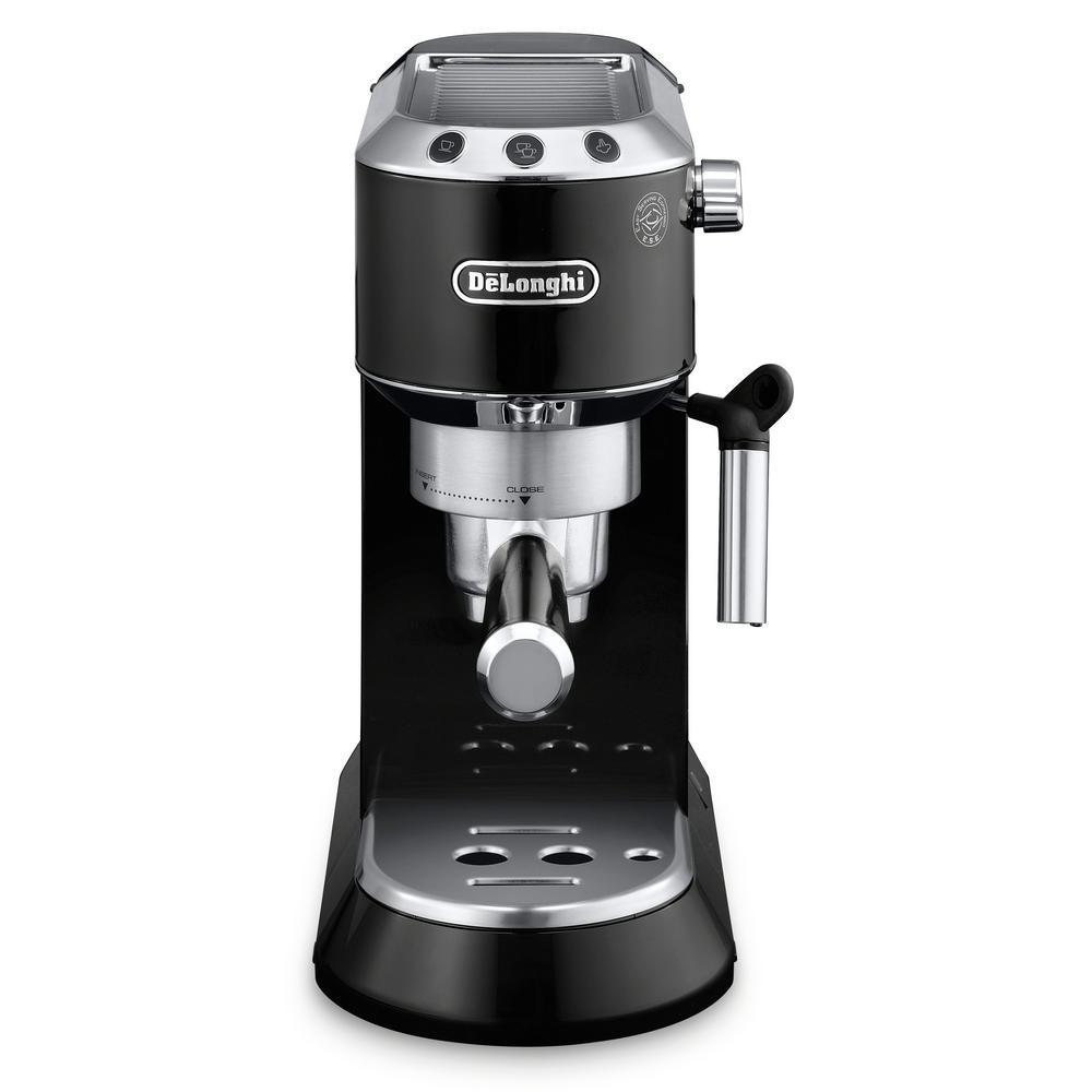 Dedica EC860 15-Bar Black Stainless Steel Slim Espresso Machine and Cappuccino Maker