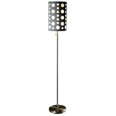 62 in. Grey and White Stainless Steel High Modern Retro Floor Lamp