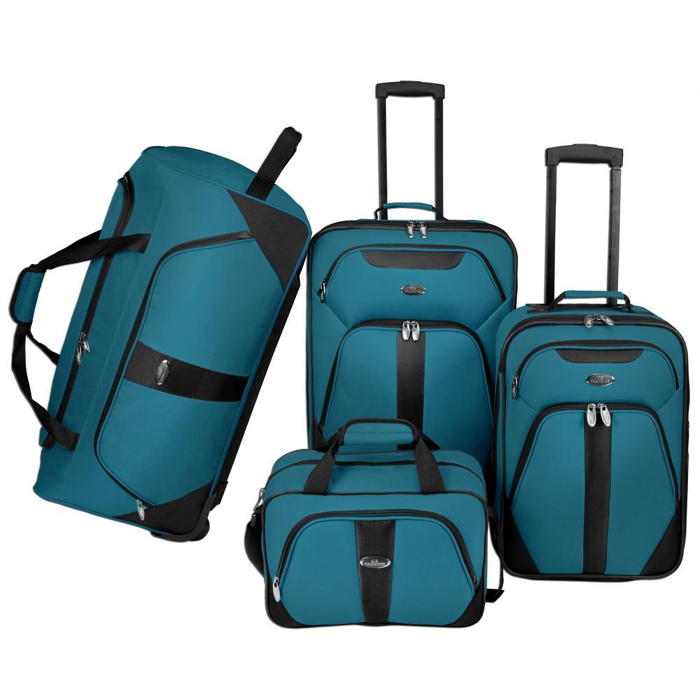 4-Piece Luggage Set, Blue