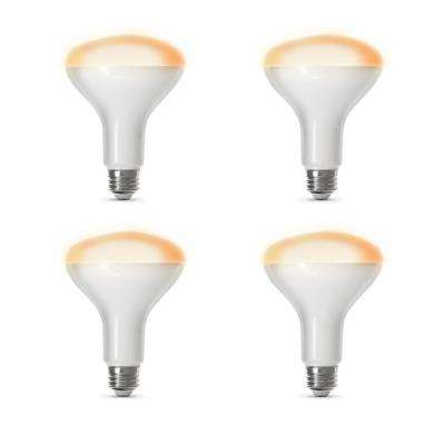65-Watt Equivalent Soft White (2700K) BR30 Dimmable Wi-Fi LED Smart Light Bulb (4-Pack)
