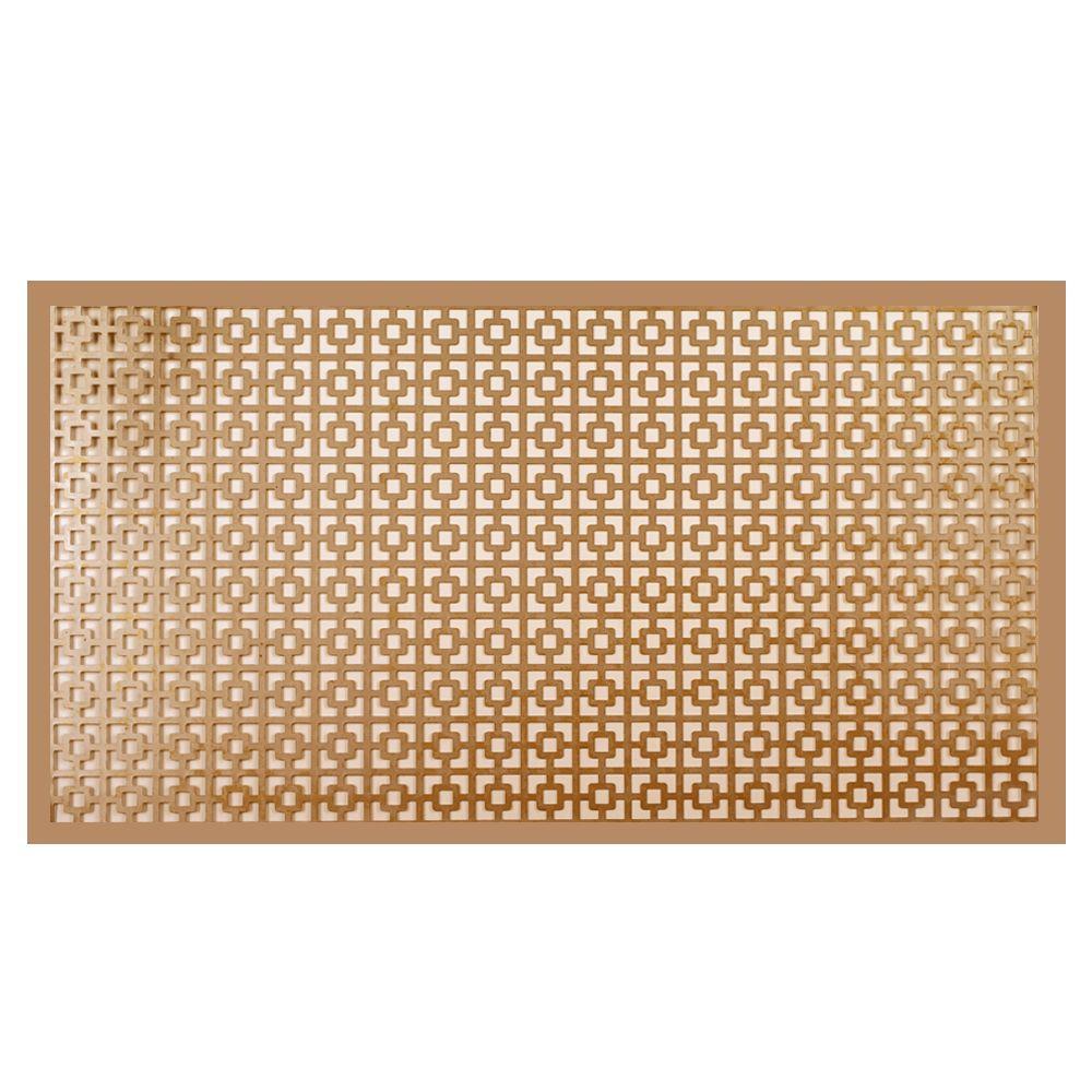 12 in. x 24 in. Chain Link Copper Aluminum Sheet