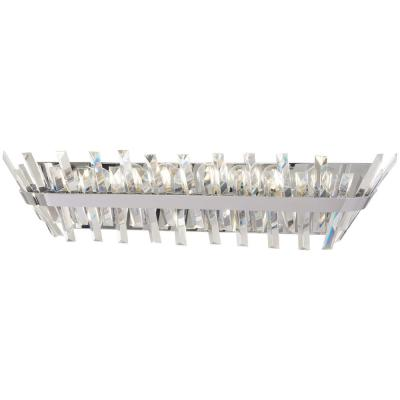 Echo Radiance 8-Light Chrome Bath Light with Clear Glass