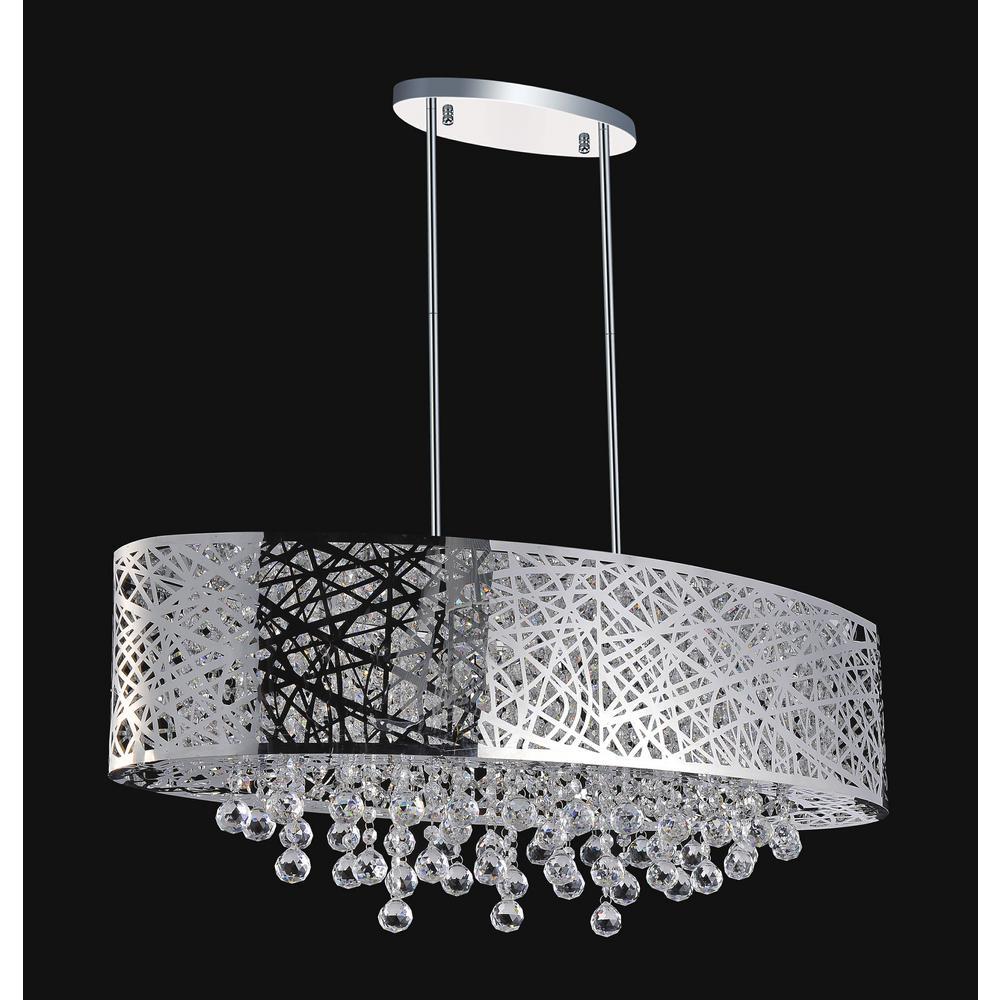 Eternity 8-light chrome chandelier
