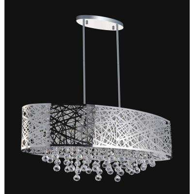 Eternity 8-light chrome chandelier