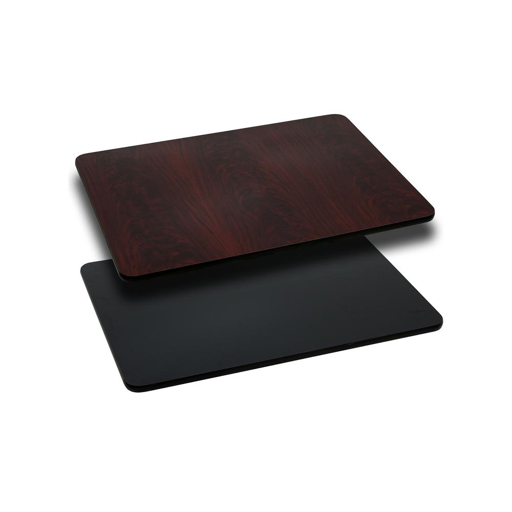 Flash Furniture 24u0027u0027 X 30u0027u0027 Rectangular Table Top With Black Or Mahogany