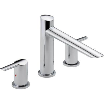 Compel 2-Handle Deck-Mount Roman Tub Faucet Trim Kit Only in Chrome (Valve Not Included)