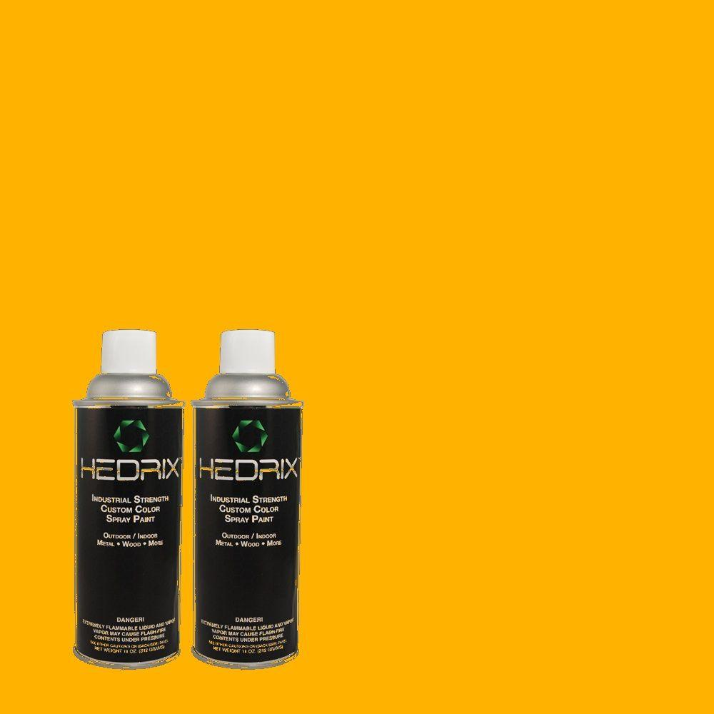 Hedrix 11 oz. Match of S-G-350 Desert Glow Low Lustre Custom Spray Paint (2-Pack)